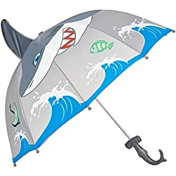 Kidorable Little Boys' Shark Umbrella, Gray, One Size