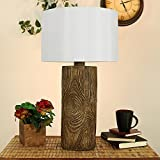 Sunnydaze Indoor Rustic Lodge Polyresin Table Lamp, 26 Inch