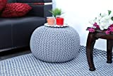 Frenish Décor Hand Knitted Cotton Ottoman Pouf