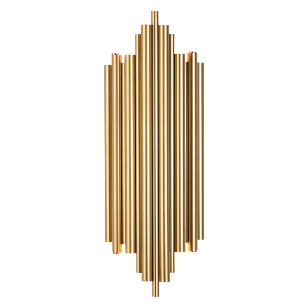 Metall-finish Wandlampe, Postmodernen Dekoration Wandbeleuchtung Surface-mount Veranda wandleuchte Für Wohnzimmer Hintergrund Tisch- & nachttischlampen 2 E27 Kopf-A H 50cm(19.7in) W 18cm(7in)