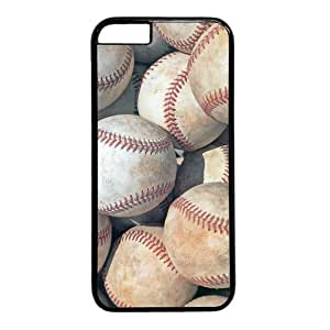 "Baseball Theme Case for iPhone 6 Plus (5.5"") PC Material Black"