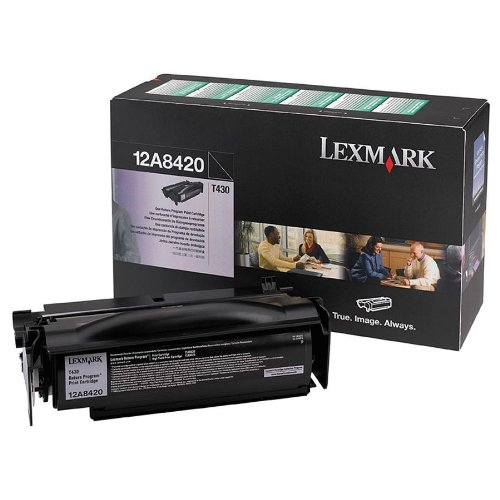 LEXMARK T430 Black Return Program Cartridge. Toner cartridge - black - 6000 pages - for Lexmark T430 (Catalog Category: Printers & Print Supplies / Printer Consumables)