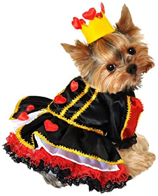 Anit Accessories 16-Inch Royal Queen of Hearts Dog Costume, Medium