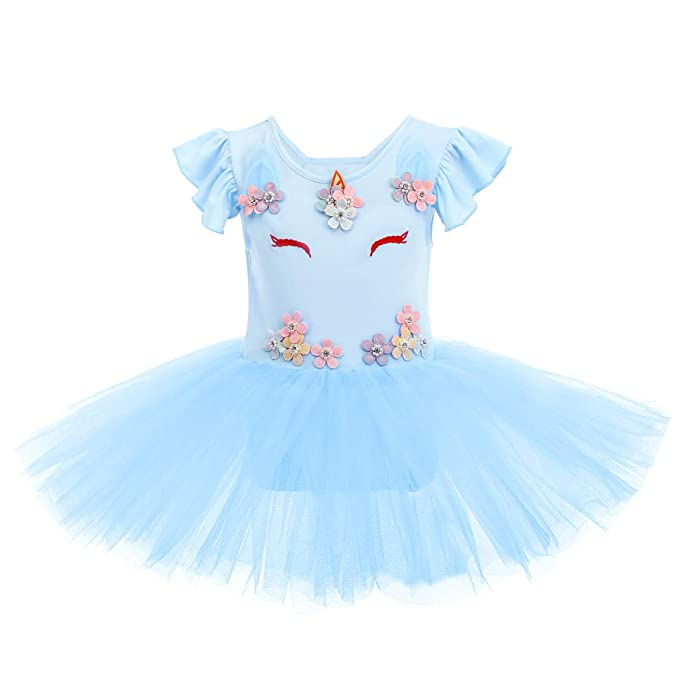 Amazon.com: Disfraz de unicornio para niñas con falda de ...