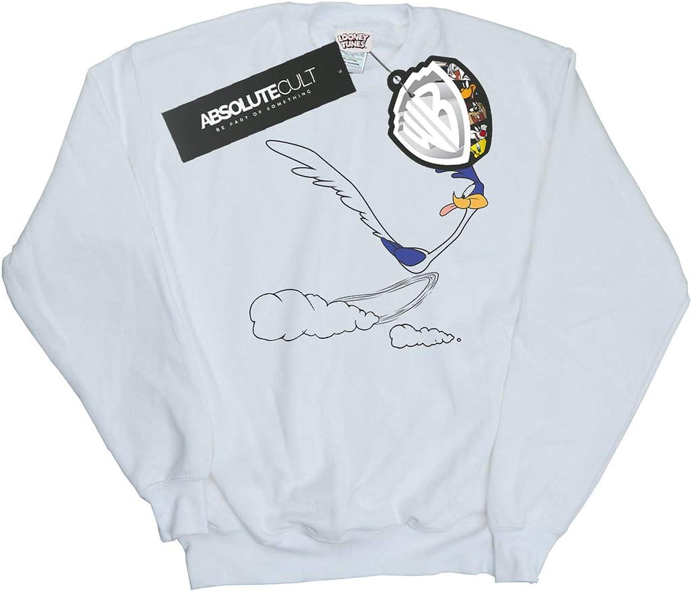 Absolute Cult Looney Tunes Girls Road Runner Running Sweatshirt