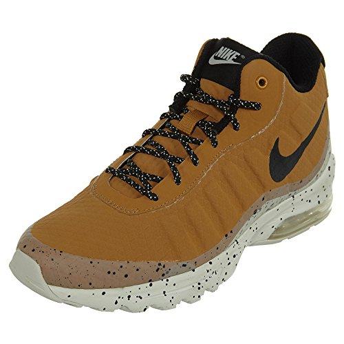 Nike Air Max Invigor Mid, Sneaker Uomo Impermeabile (42.5, Giallo (Wheat/Black/Light Bone))