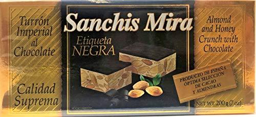 Sanchis Mira Turron Alicante al Chocolate 200 grs. (7 oz.)