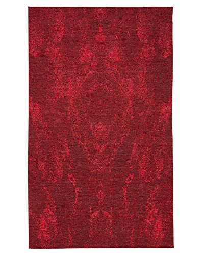 NaturalAreaRugs Anegada Vintage Turkish Polyester Cotton Area Rug, Traditional, Soft, Non-Slip Latex Backing, Eco-Friendly, Burgundy/Red (6 Feet X 9 Feet) Review
