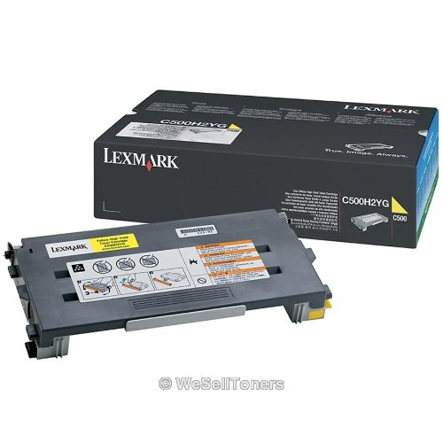 Lexmark C500H2YG Yellow  Toner Cart  Cartridge High Yield