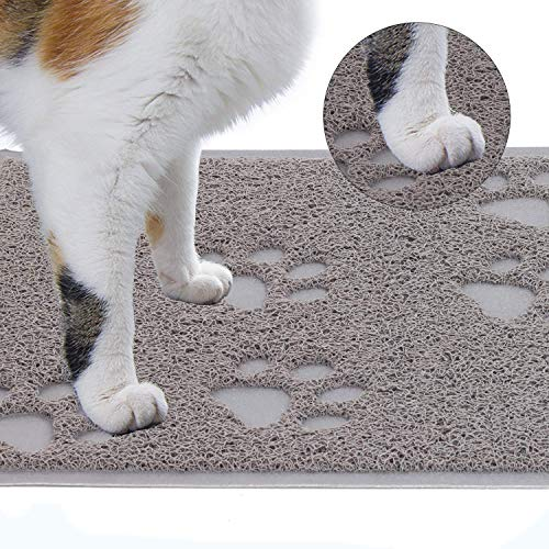 Pataku Pet Feeding Mat Cat Little Mat,Non Slip Waterproof Easy to Clean Cat Claw Pattern, Pet Supplies Cushion 16 inches…