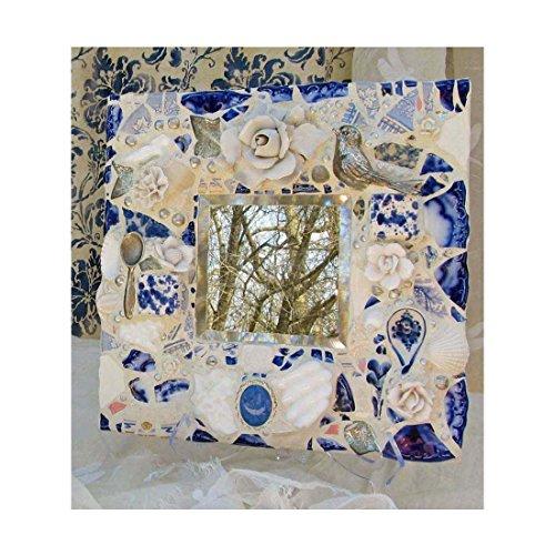 Blue Willow Pique Assiette Mirror by Melissa's Motifs Mosaics