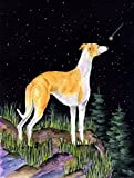 Caroline's Treasures SS8492CHF Starry Night Whippet Flag Canvas, Large, Multicolor