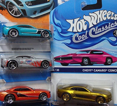 hot-wheels-detailed-diecast-chevrolet-camaro-set-cool-ones-series-5-30-bronze-real-riders-concept-si