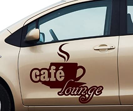 myDruck-Store Pegatina de Coche Cafe Lounge Café Café Pegatina ...