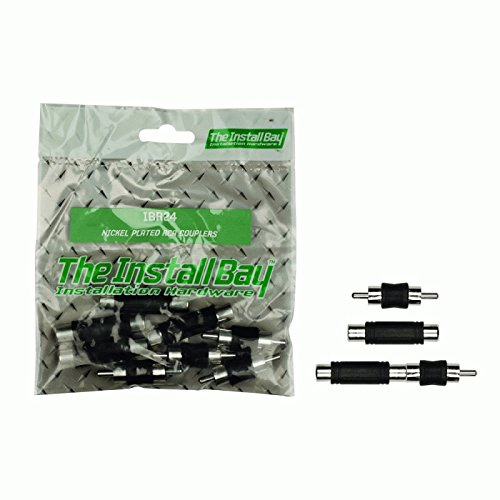 (Install Bay IBR24 Nickel Plated Rca Couplers - Retail Pack)