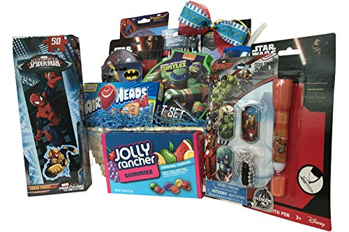 Superhero Fun & Games Gift Basket for Boys