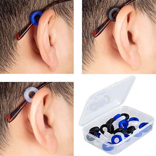 Deoot Eyeglass Ear Grips Round Comfortable Silicone Anti-Slip Holder Prevent Eyeglass Slipping Sports Eyewear Retainer(15 Pairs)