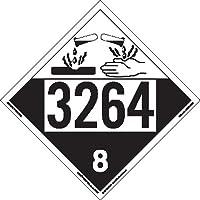 Labelmaster ZT4-3264 UN 3264 Corrosive Hazmat Placard, Tagboard (Pack of 25)