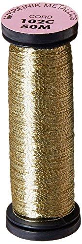 Kreinik Cord Metallic - Kreinik Metallic Cord 1 Ply, 50m, Vatican Gold