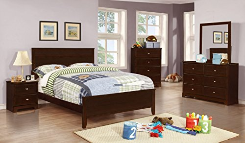 Coaster Home Furnishings 400771T Panel Bed, Cappuccino