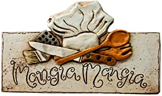product image for Piazza Pisano Art by Al Pisano Mangia Mangia Italian Wall Plaque