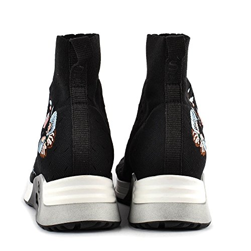 Knit Trainers Ash Black LOTUS With Black Embroidery tftRgqw5