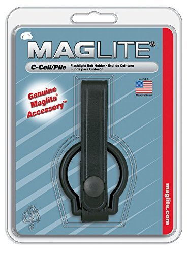 Maglite Black Plain Leather Belt Holder for C-Cell Flashlight by Mag-Lite