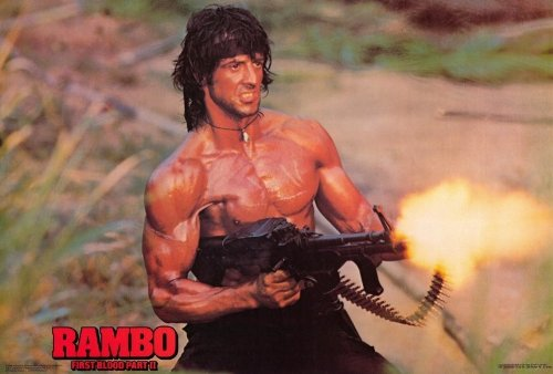 Rambo: First Blood, Part 2 Poster B 27x40 Sylvester Stallone Richard Crenna Charles Napier