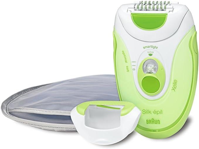 Braun Silk-épil 5 5180 Depiladora, Verde, 4 Pinzas, Sistema Cerámica, Luz Posterior: Amazon.es: Salud y cuidado personal