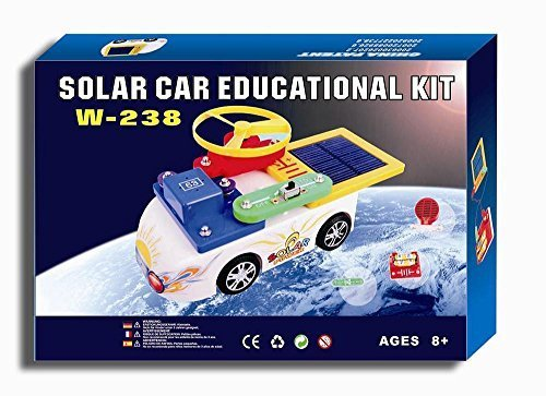 Solaration 5017 Snap Circuits with Solar Panel and Car Kit, 238 Models