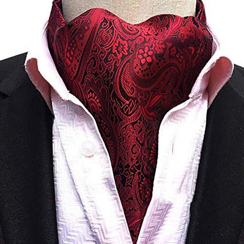 acquard Woven Silk Necktie Scarf Formal Ascot ()