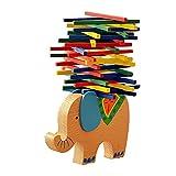 Sunny&Love 2018 Kids Educational Toys Elephant Wooden Balance Game Montessori Blocks Toys Gift (Multicolor)
