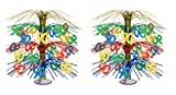 Beistle S50766MCAZ2, 2 Piece ''90'' Cascade Centerpiece, 18''