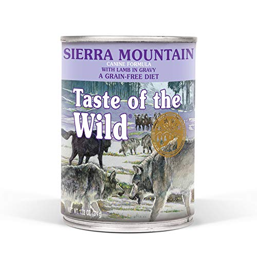 Taste Of The Wild Grain Free Real Meat Recipe Premium Wet Canned Stew Dog Food (12) 13.2 oz. Cans (Call Wild Dog Food)