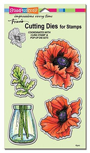 (STAMPENDOUS Pretty Poppies Die Cut Set)
