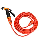 USA Premium Store 12V Portable 80W 130 PSI High Pressure Car Electric Washer Hose Wash Pump Kit