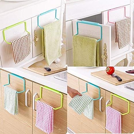 Kitchen Organizer Towel Rack Hanging Holder Bathroom Cabinet Cupboard Hanger She