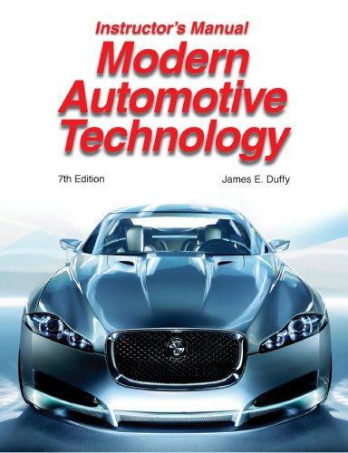 Modern Automotive Technology Instructor's Manual