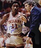 NCAA Indiana Hoosiers Bob Knight Signed Photograph with Player, 8x10-Inch