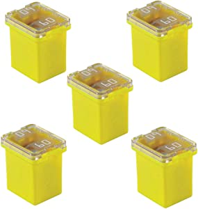 5 Pack Automotive Low Profile Fuses 60 amp Jcase Fuse for Ford, Chevy/GM, Nissan, and Toyota Pickup Trucks, Cars and SUVs