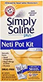 Simply Saline Neti Pot Nasal Sprays and Strips Kit with Refills, 50 Count