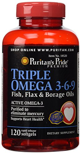 Puritans Pride Triple Oils 120 Softgels product image