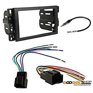 saturn 2008 2009 vue car stereo dash install mounting kit wire harness radio