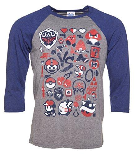 Retro Gaming Raglan Baseball T Shirt