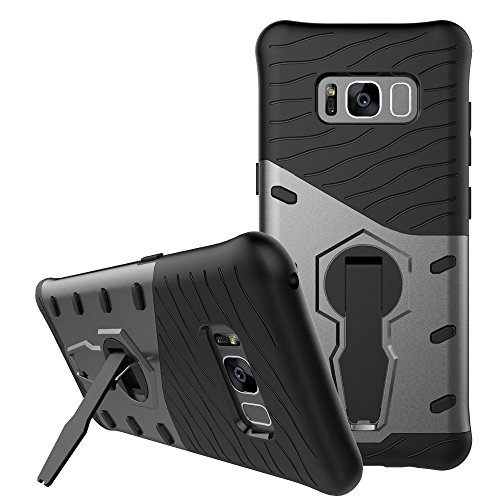 SunRemex Rugged Armor Galaxy S8 Plus Case with Full Body Protective and Resilient Shock Absorption and 360 Degree Rotating Kickstand Design for Samsung Galaxy S8 Plus (2017)