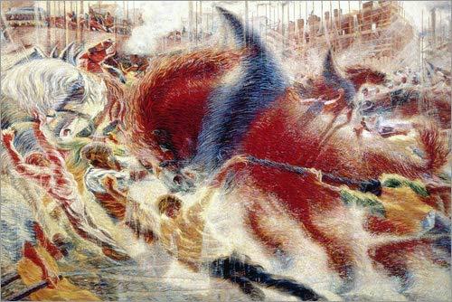 Posterlounge Alu Dibond 30 x 20 cm: The City is Growing. 1910 di Umberto Boccioni/ARTOTHEK