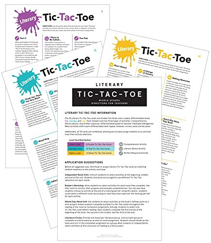 Literary Tic-Tac-Toe: Differentiated Novel Activities Card Set for Middle ()