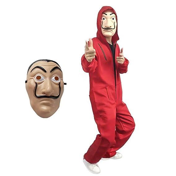 Disfraz La Casa de Papel con Máscara de Salvador Dali ...