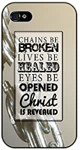 Chains be broken, lives be healed, eyes be opened, Christ is revealed - Bible verse For SamSung Galaxy S5 Mini Case Cover black plastic case / Christian Verses
