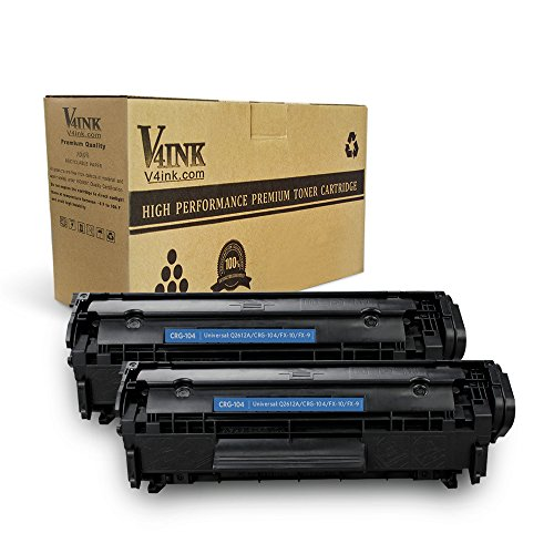 104 Toner - v4ink 2PK Compatible Toner Cartridge Replacement for Canon 104 CRG-104 FX-9 FX-10 Toner Cartridge Ink for use in Canon Imageclass D420 D450 D480 MF4150 MF4350D MF4270 MF4370DN MF4380DN Printer